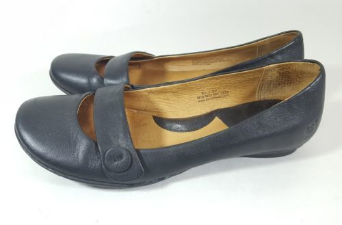 Born flats 6.5 Mary Janes black leather X