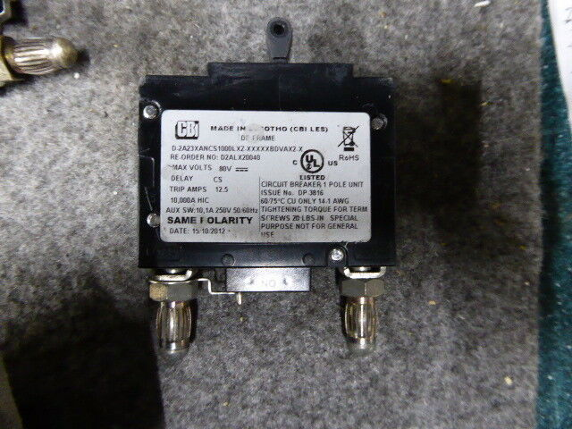 D2ALX20040 CBI Bullet Circuit Breaker 1 Pole 10A,