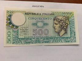 Italy Mercurio 500 lire uncirc. banknote 1974 #1 - $7.95