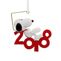 HMC Peanuts by Schulz Snoopy 2018 Christmas Ornament, Hallmark - $16.19