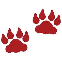 LiteMark 4 Inch Red Removable Lion Tracks - Pack of 30 - $27.95