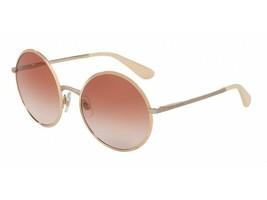 Dolce & Gabbana Sunglasses DG2155 129313 Pink Gold/Brown Gradient Lens 56mm - $415.80