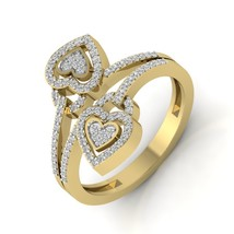 Lovely Gift For Lover Heart And Lock Ring Elegant Dual Heart And Lock Ri... - $479.99