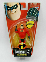 "Disney Pixar Incredibles 2 Mr. Incredible 4"" Poseable Figure - New - FREE SHIP - $13.72"