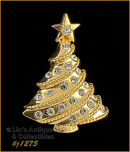Signed Eisenberg Ice Small Christmas Tree Pin (#J1275) - $39.39 CAD