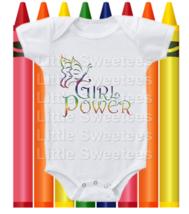 Girl Power Onesie Cute Shirt Shower Gift Rainbow Design - $15.00