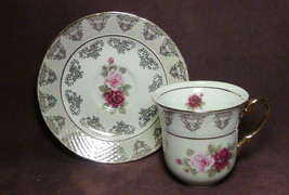 12 pcs. THUN  KARLOVARSKY Rose Design Fine Porcelain China Tea Set - $84.15