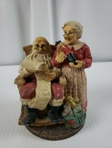 Christmas Figures Custom Mr & Mrs Claus checking the list - $22.79