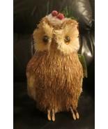 "Happy Holidays Woodland Owl In Santa Hat 9-1/4"" Tall - $12.86"