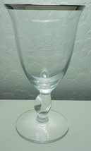 Imperial Twist Clear Platinum Water Goblet - $7.88