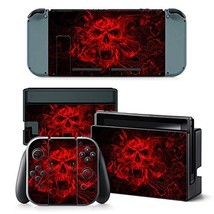 Skin Sticker Decal Cover for Nintendo Switch Red Skull Design - $10.25