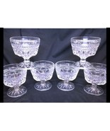 Anchor Hocking Cups Dessert Clear Wexford Footed Fruit Ice Cream Set Of 6 02AL - $24.18