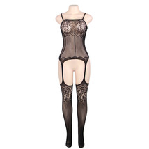 #H3011 Women's sexy exotic lingerie cut-out crotchless fishnets body sto... - $19.99