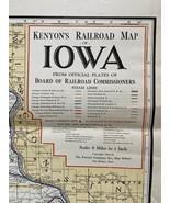 1924 Kenyon Railroad Map of Iowa - $9.80