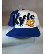 NWT Vtg Coors Light NASCAR Kyle Petty # 42 White/Blue Racing Ball Cap Hat - $14.36