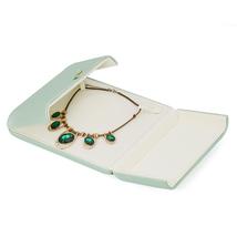 Small Faux Leather Wedding Jewelry Box Organizer- Wedding Jewelry - Sage green image 8