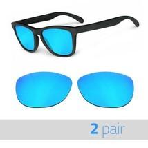 2 Pair Optico Replacement Polarized Lenses for Oakley Frogskin Sunglasses Blue - $15.99