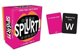 Gamewright Splurt! Portable Party Card Game Think Fast. Say it First! - $7.14