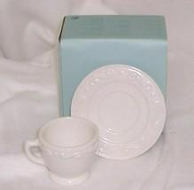 PartyLite Sidewalk Cafe Demitasse Votive Holder White Porcelain P8106 - $5.89