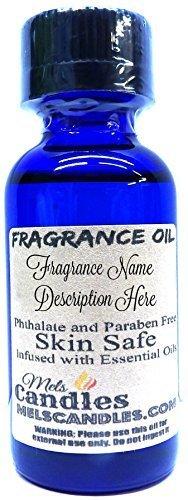 Patchouli Orange 1oz/29.5ml Blue Glass Bottle of Skin Safe Fragrance Oil, Soap O