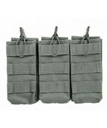 VISM Triple Rifle Magazine Pouch MOLLE Tactical Duty Gear Hunting GRAY - $17.74