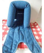 EUC Infant Baby Car Seat Head Rest Neck head Support blue DenimEddie Bauer - $6.44