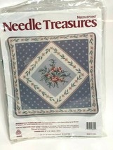 Needle Treasures Needlepoint Wedgewood Floral Pillow/Michael A. LeClair ... - $39.59