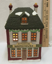 Department 56 Fezziwig's Warehouse Dickens Village Dept Heritage Christmas House - $29.65