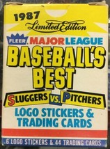 1987 FLEER Baseball Best SLUGGERS VS. PITCHERS 44 Card +6 Stickers Compl... - $4.31