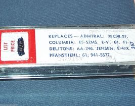 ASTATIC 103 PHONOGRAPH CARTRIDGE NEEDLE for EV 61 Admiral 98C98 Admiral 98C99-97 image 3