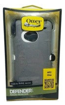 New OEM Otterbox Defender Series Case HTC One, Gray, White, Belt Clip - $6.33