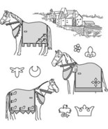 Suitability 9130 Medieval Horse Costume  (with Rump Cover) Sewing Pattern - $10.00