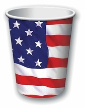 USA Paper Cups 9oz (8pcs), Party Tableware, - $2.48