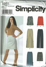 Simplicity Sewing Pattern 5861 Misses Skirt Size 12-18 - $8.99
