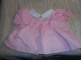 PINK TOP OF DRESS WITH WHTIE COLLAR AND EMBROIDERED FLOWER IN FRONT - $4.99