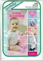 SewBaby F894 5 Easy Booties Infant Toddler Pattern Size Preemie Thru18 Mos Uncut - $7.83