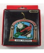 Nations Treasures West Virginia State Bird Flower Brass Metal Souvenir O... - $14.85