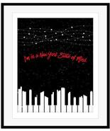 Billy Joel NEW YORK STATE OF MIND Song Lyric Music Art Design Illustrati... - $19.79+