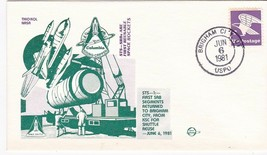 STS-1 FIRST REUSABLE SRBs BRIGHAM CITY JUN 6 1981 SPACE VOYAGE - $1.78