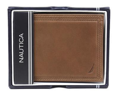 Nautica Men's Bifold Genuine Leather Credit Card ID Passcase Wallet 31NU220011