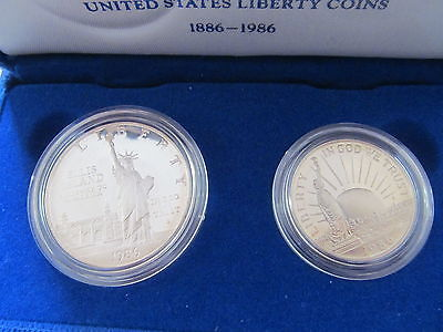 1986 UNITED STATES LIBERTY PROOF SILVER AND HALF-DOLLAR 2 COIN PROOF SET image 5