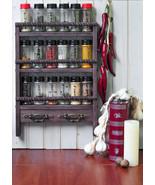 Wooden Spice Rack Wall Mount & Towel Holders - Oak Style finish, Rustic ... - $46.99