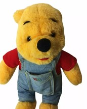 Winnie The Pooh Plush Wearing Pocket Book Blue Jean Overalls 1995 Mattel... - $16.34