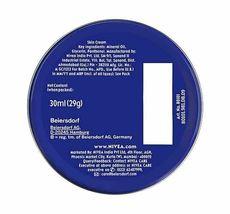 2 Can of 30 mL/ 1 Oz NIVEA CREAM Original Skin Hand CREME moisturizer Metal Tin image 3
