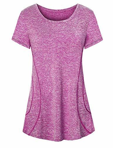 Cucuchy Yoga Shirt, Women Workout Clothes Plus Loose Fit Exercise Tshirts Basic