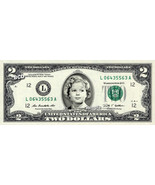 SHIRLEY TEMPLE on REAL TWO Dollar Bill Cash Money Memorabilia Novelty Co... - $12.22