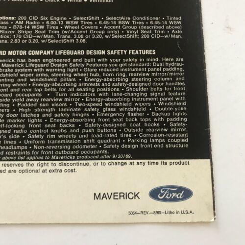 Vintage Ford Maverick 1970 Dealership Sales Brochure Paperback Booklet A2601