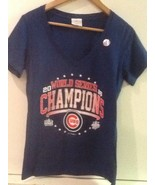 Chicago Cubs Royal 2016 World Series Champions MLB licensed Women's M Me... - $15.95