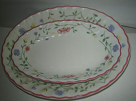 Johnson Brothers Summer Chintz Oval Vegetable Relish Under Plate Excellent Look - $19.99