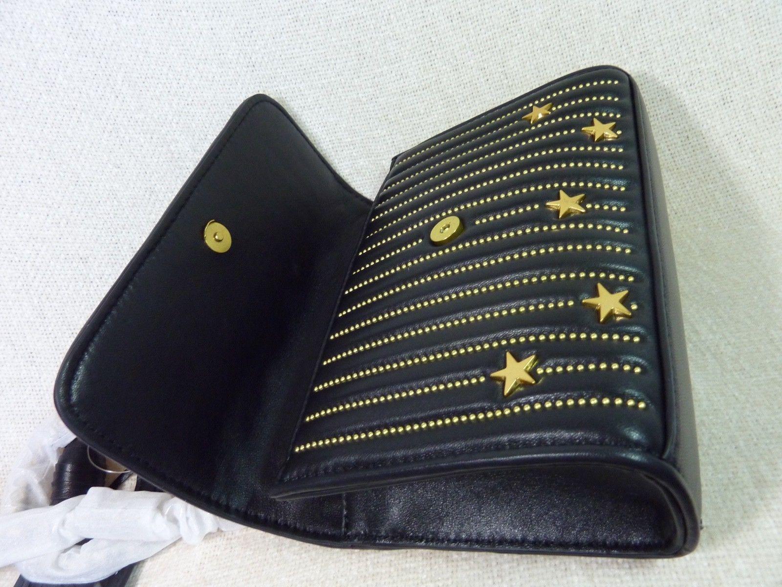 NWT Tory Burch Black Fleming Star-Stud Small Convertible Bag image 5